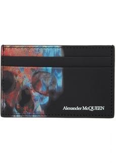 Alexander McQueen Black Ikat Skull Wallet