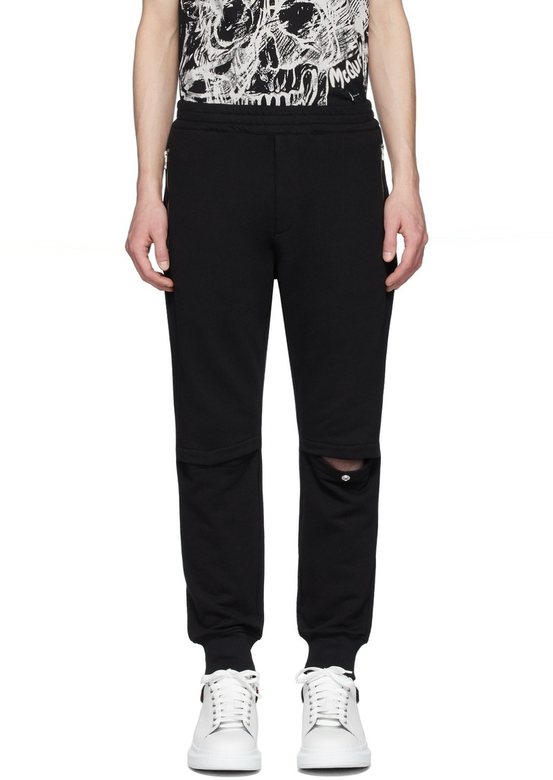 Alexander McQueen Black Jogger Lounge Pants