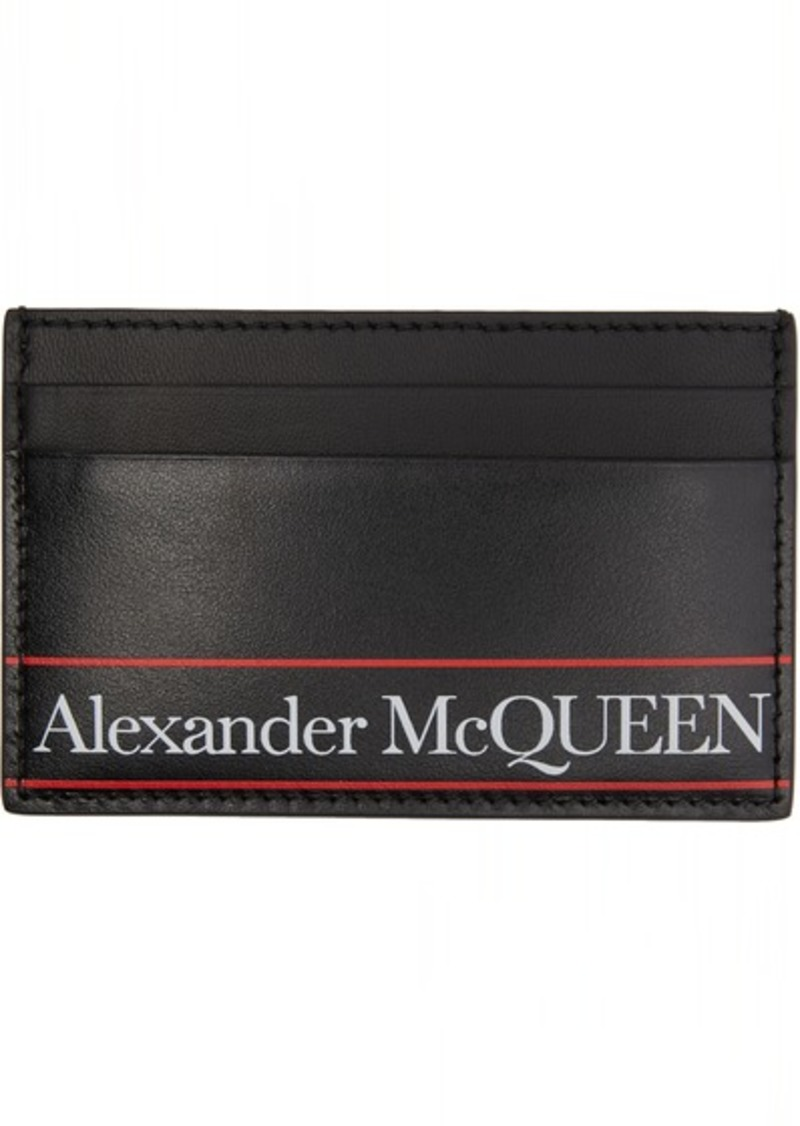 Alexander McQueen Black Logo Card Holder