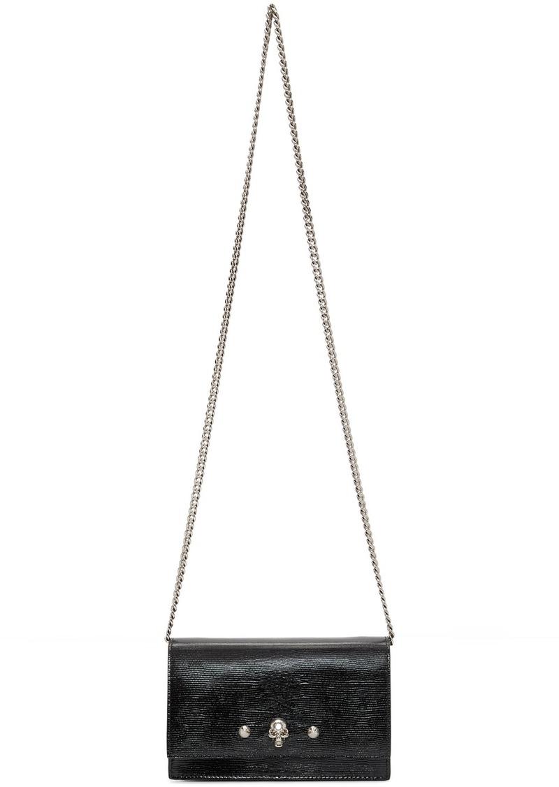 Alexander McQueen Black Mini Lizard Skull Studs Bag