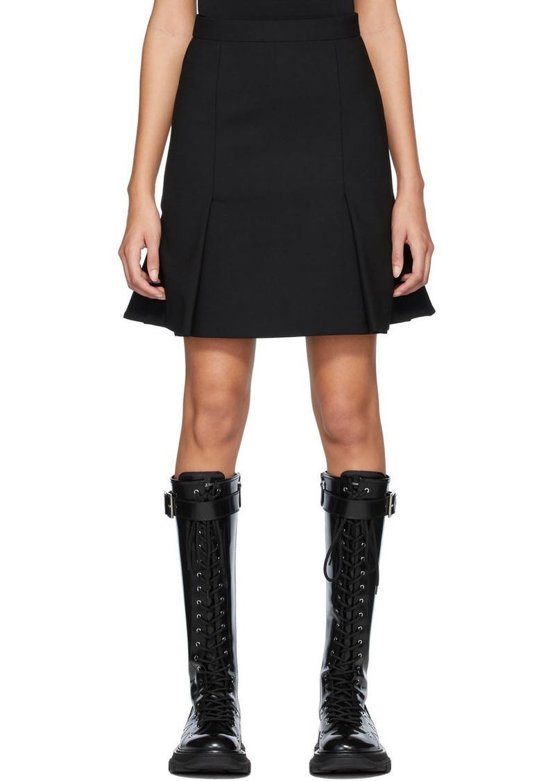 Alexander McQueen Black Peplum Mini Skirt