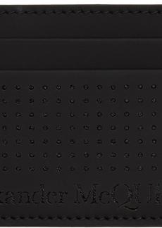 Alexander McQueen Black Perforated Card Holder