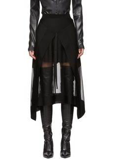 Alexander McQueen Black Sheer Panel Skirt