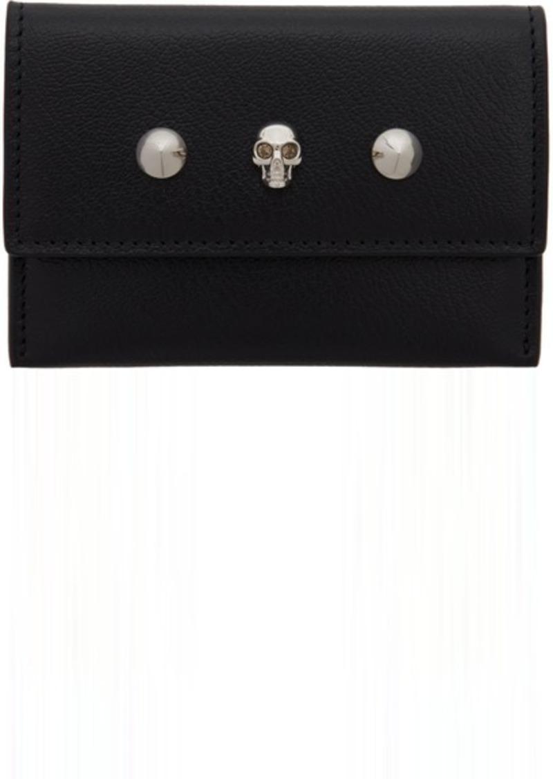 Alexander McQueen Black Skull & Stud Envelope Card Holder