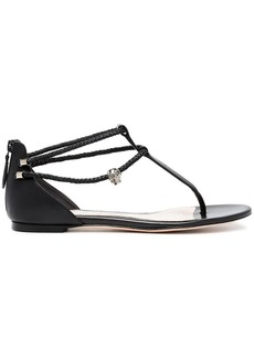 Alexander McQueen Black Skull 20 Leather Sandals