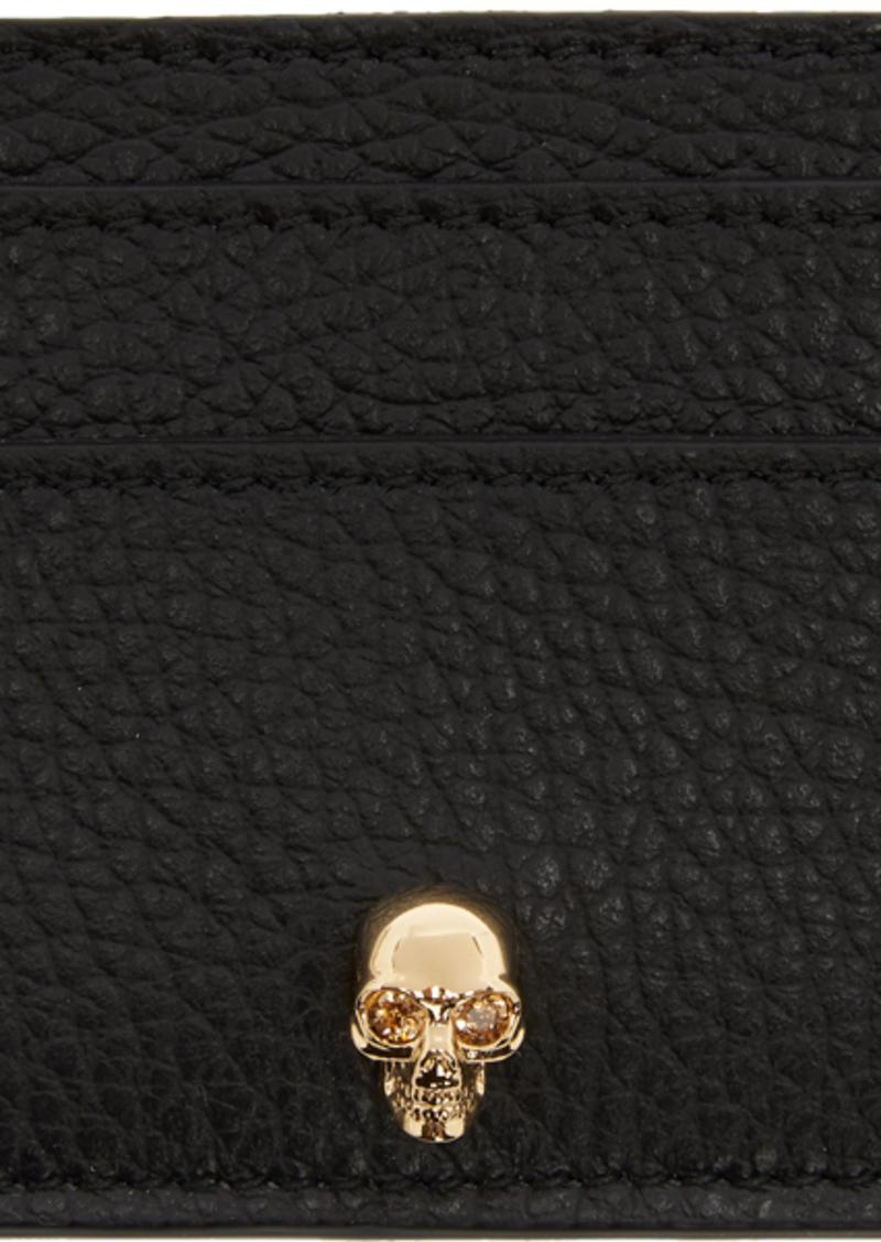 Alexander McQueen Black Skull Card Holder