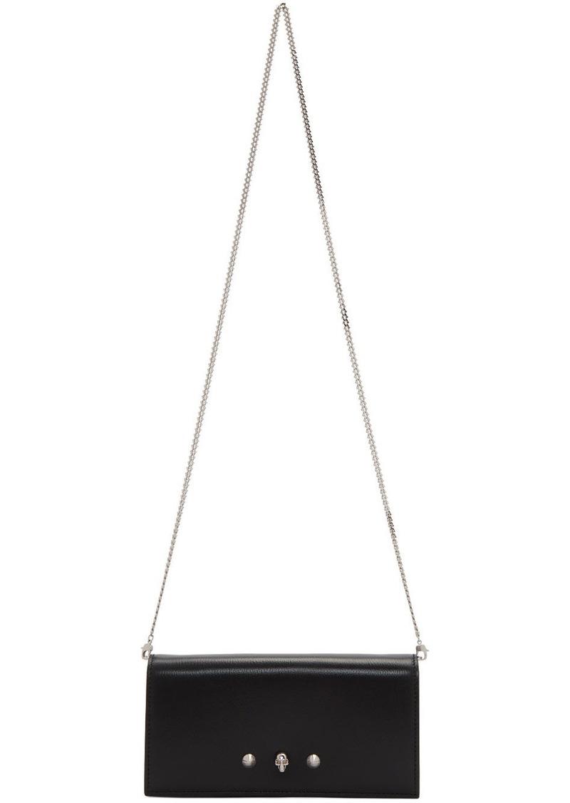 Alexander McQueen Black Skull Chain Wallet Bag