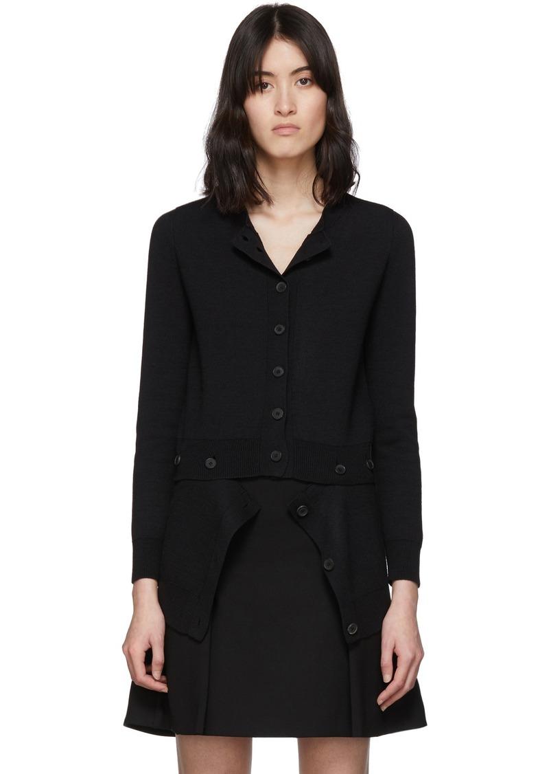Alexander McQueen Black Wool Button Bottom Cardigan