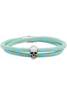 Alexander McQueen Blue Skull Friendship Bracelet