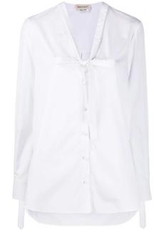 Alexander McQueen bow detail shirt
