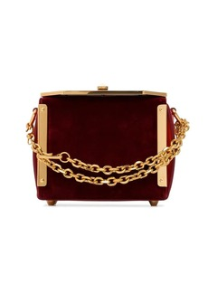 Alexander McQueen red velvet Box Bag 16