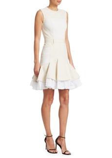 Alexander McQueen Broderie Anglaise Denim Mini Dress