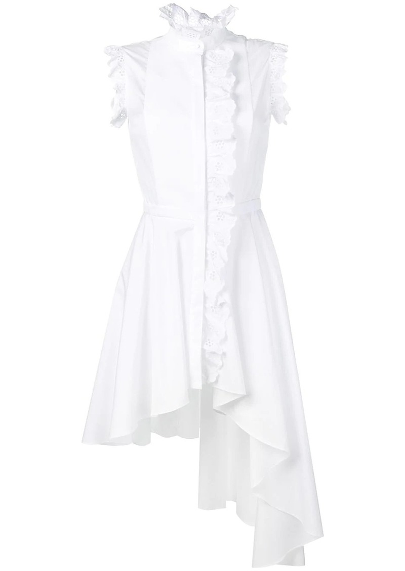 Alexander McQueen broderie anglaise trim dress