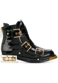 Alexander McQueen buckle fastening boots