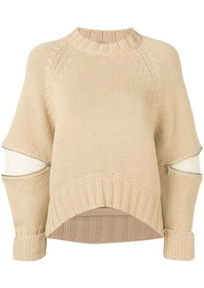 Alexander McQueen bulging sleeve knitted sweater