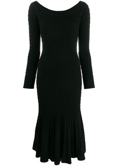 Alexander McQueen cable knit dress