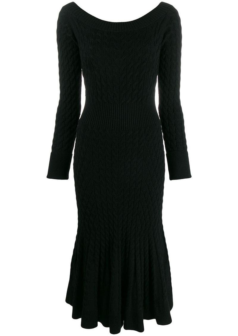 Alexander McQueen cable knit dress
