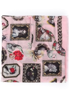 Alexander McQueen Cameo and curiosities shawl