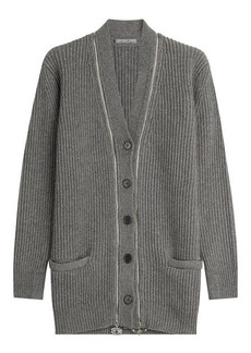 Alexander McQueen Cashmere Cardigan with Embellished Zippers