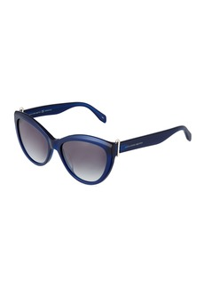 Alexander McQueen Cat-Eye Plastic Sunglasses