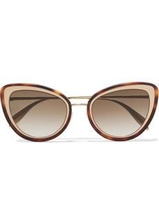 Alexander McQueen Cat-eye Tortoiseshell Acetate And Gold-tone Sunglasses