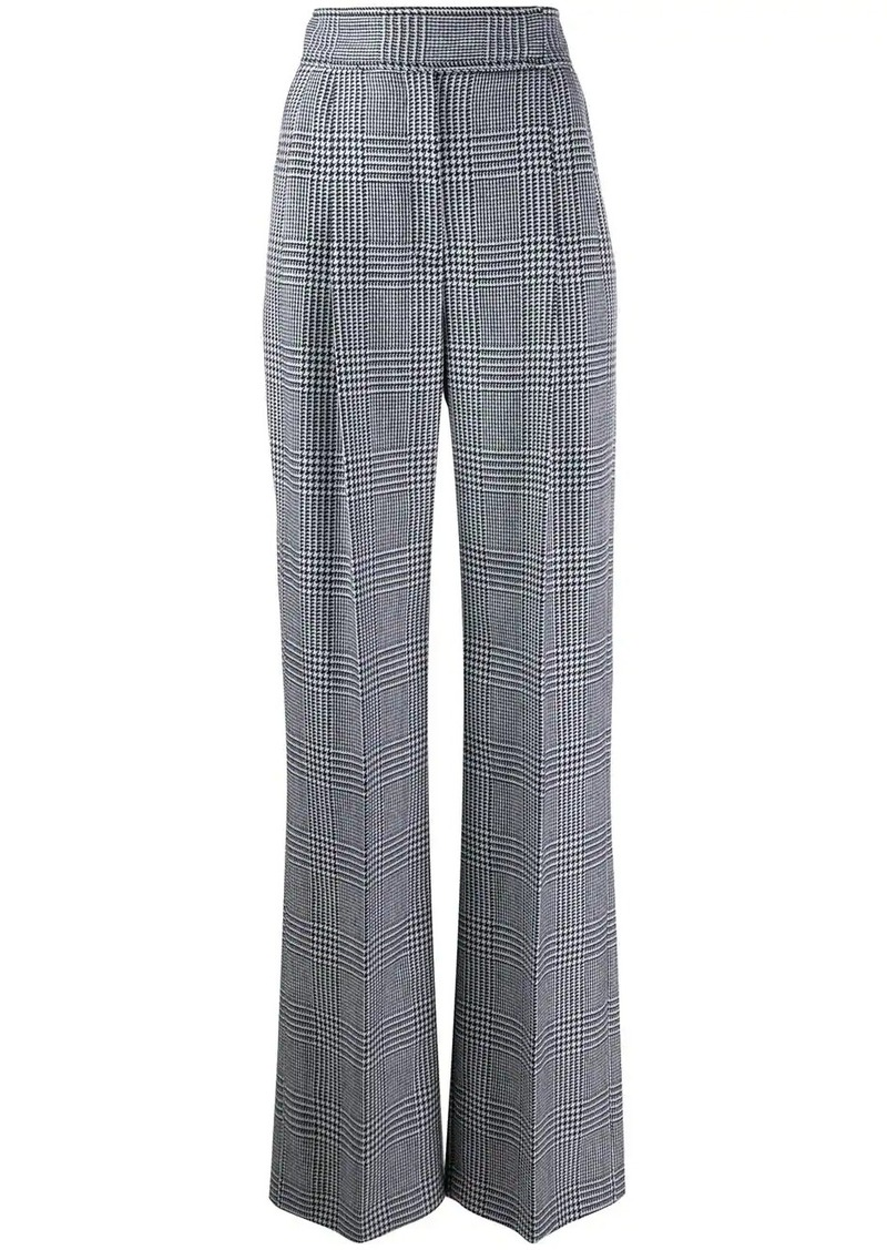 Alexander McQueen check high-waisted trousers