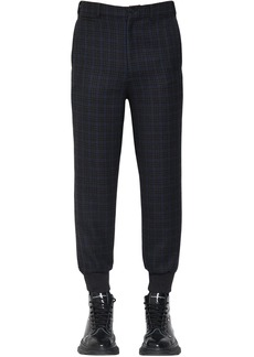Alexander McQueen Check Virgin Wool Blend Pants