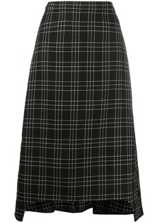 Alexander McQueen checked A-line skirt