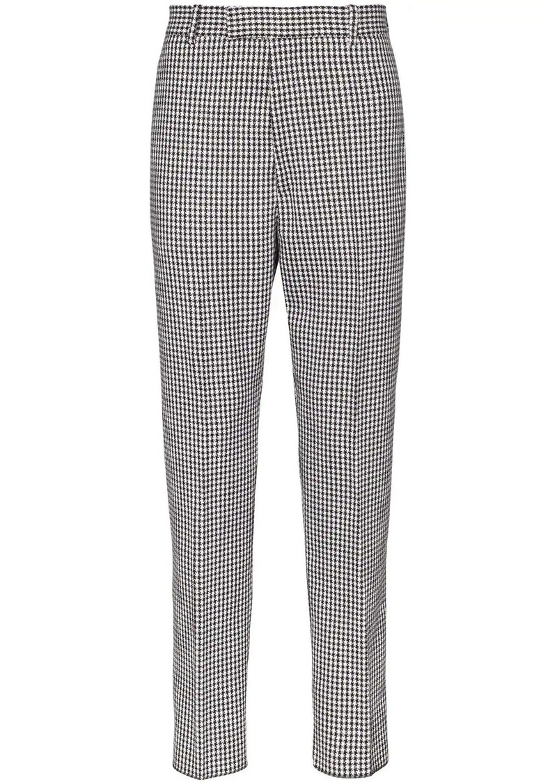 Alexander McQueen checked tailored trousers