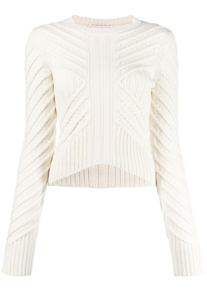 Alexander McQueen chevron knit jumper
