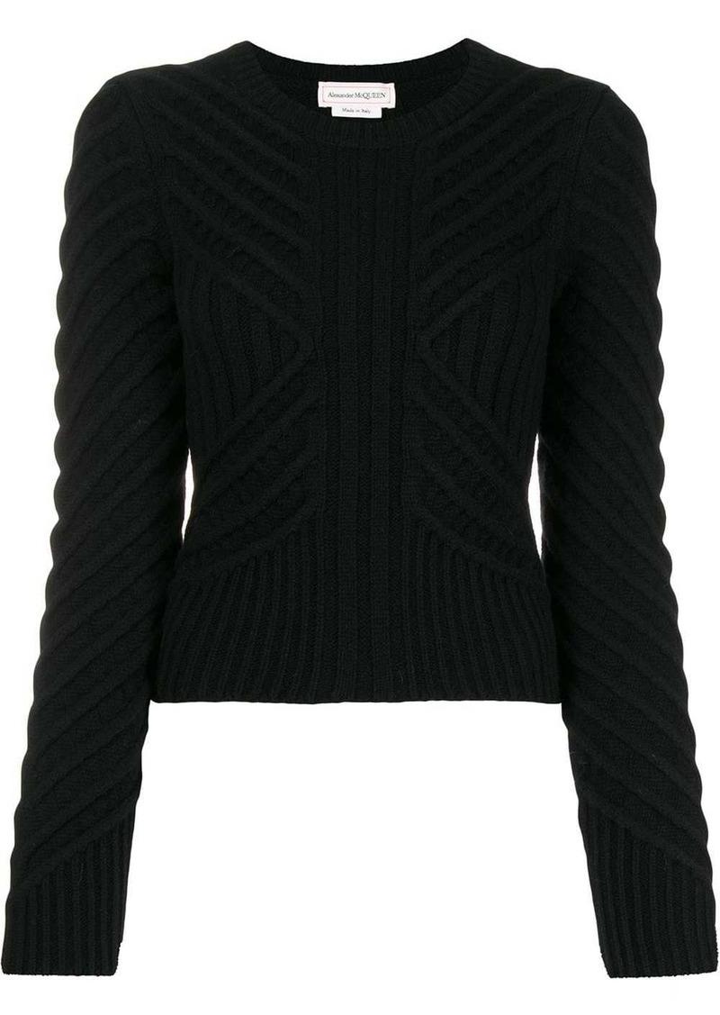 Alexander McQueen chevron knitted jumper