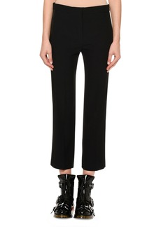 Alexander McQueen Cigarette Crepe Trousers w/ Taffeta Tux Stripe