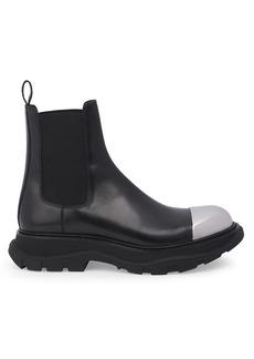 Alexander McQueen Colorblock Leather Combat Boots