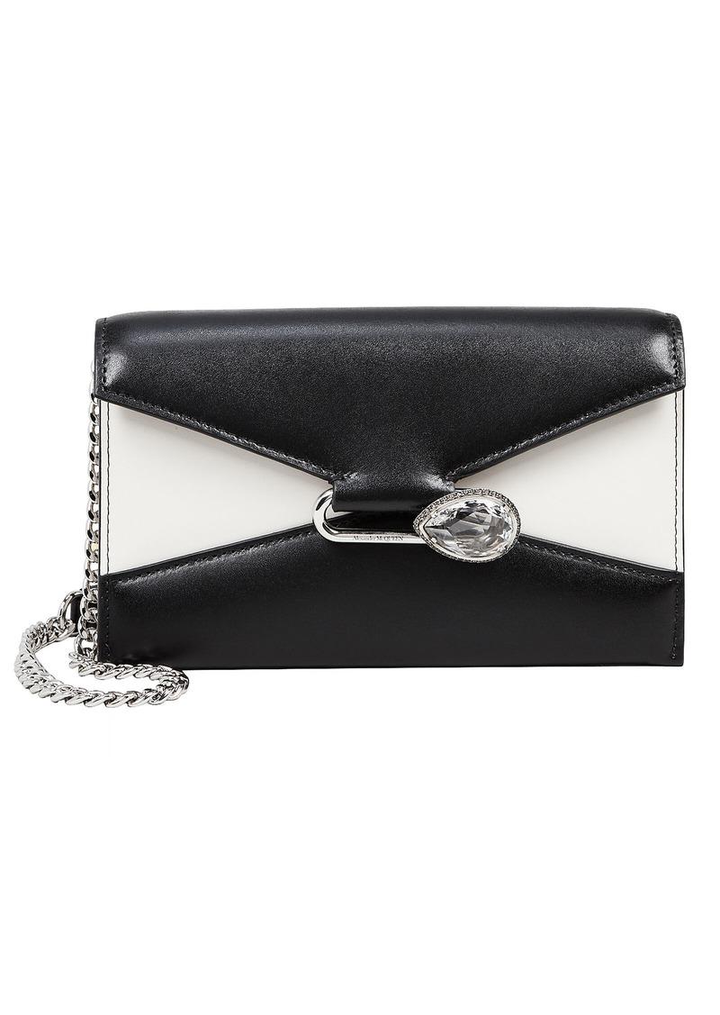 Alexander McQueen Colorblock Leather Envelope Clutch