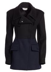 Alexander McQueen Hybrid Bi-Color Short Wool Coat