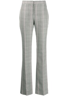 Alexander McQueen contrast check trousers