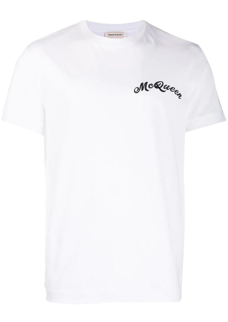 Alexander McQueen contrast embroidered logo T-shirt