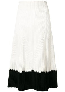 Alexander McQueen contrast flared midi skirt