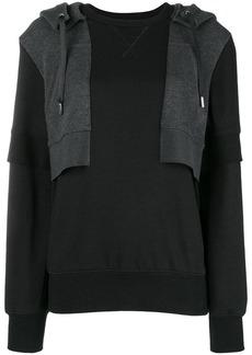 Alexander McQueen contrast hooded sweatshirt
