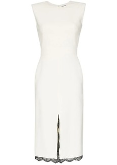 Alexander McQueen contrast lace detail dress