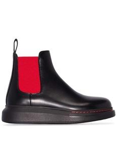 Alexander McQueen contrast panel Chelsea boots