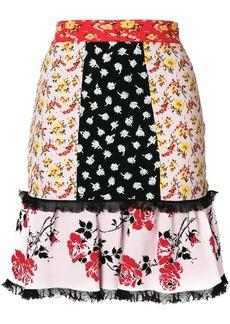 Alexander McQueen contrast panel skirt