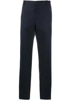 Alexander McQueen contrast silk stripe trousers