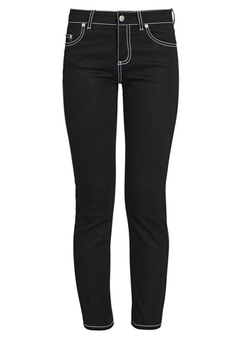 Alexander McQueen Contrast Stitch Skinny Jeans