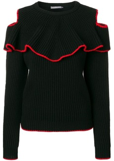 Alexander McQueen contrast trim knitted top