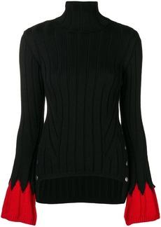Alexander McQueen contrast turtle-neck sweater