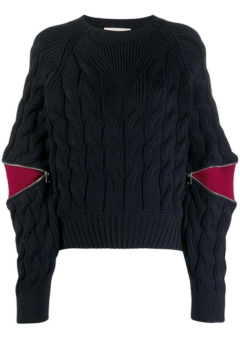 Alexander McQueen contrasting panels jumper
