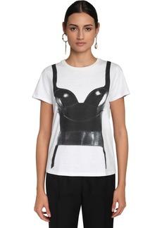 Alexander McQueen Corset Print Cotton Jersey T-shirt