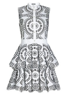 Alexander McQueen Cotton Broderie Anglaise Dress