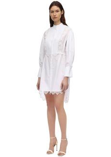 Alexander McQueen Cotton Poplin & Lace Shirt